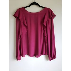 Lush red wine blouse
